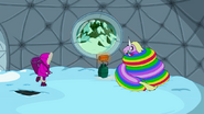 S4 E19 Princess Bubblegum and Lady Rainicorn in dome