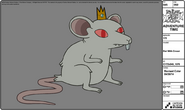 Modelsheet rat withcrown