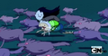 S2e20 Finn and Marceline running with Wolves.png