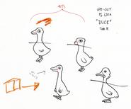Modelsheet duck