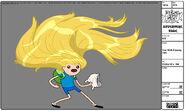 Modelsheet Finn with Flowing Hair