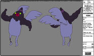 Modelsheet Zombie Candy Person -39 with Wings, Lips & Muscles - Special Color