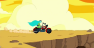 S5e52 Finn and Canyon on motorcycle