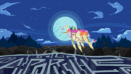 S2E22 The Limit - Finn and Jake riding the Ancient Psychic Tandem War Elephant backwards into the moon-1