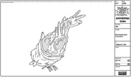 Modelsheet birdinsideout - transition
