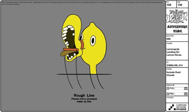 File:Modelsheet Lemongrab Landing on Lemon Horse.png