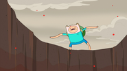 S5e27 Finn on edge of volcano