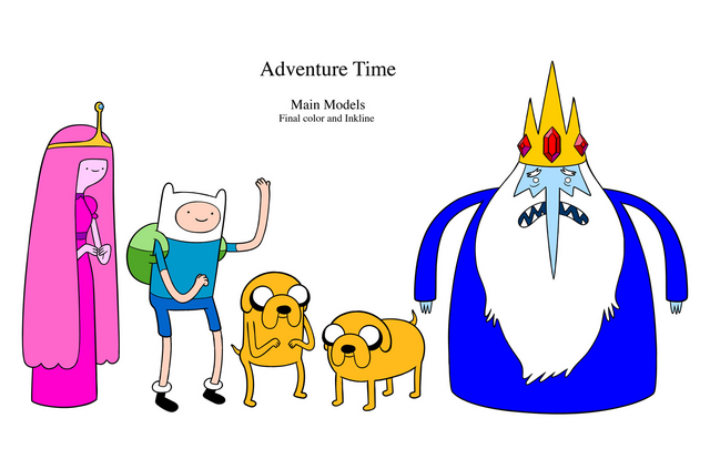 File:Adventure Time Main Line-Up.png