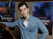 Jeremy Shada in Voltron voice booth