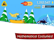 Ski Safari - Mathematical costumes