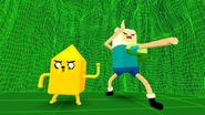 S2e16 Finn and Jake ready to fight
