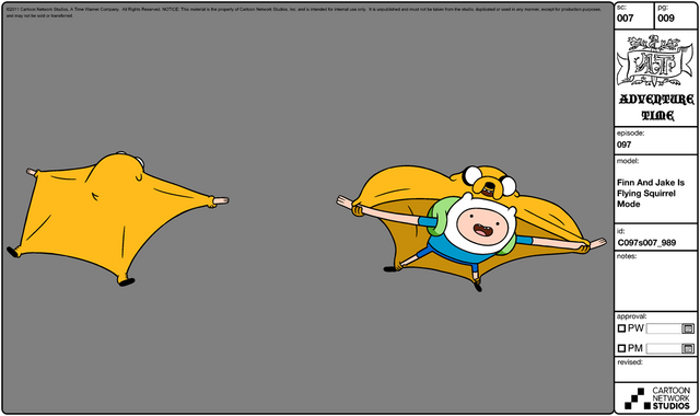 File:Modelsheet Finn and Jake in Flying Squirrel Mode.png