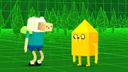 S2e16 Finn and Jake inside the game