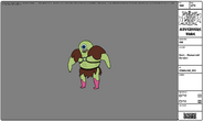 Modelsheet gork - humanoidversion
