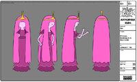 Modelsheet princessbubblegum innewoutfit s2e17