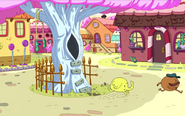 S8e4 Tree Trunks and Starchy running