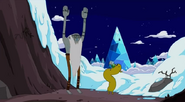 S4 e26 Billy getting ready to jump in snow