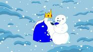 Ice King making the first snow man