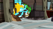 S5e27 Jakesuit breaking through wall