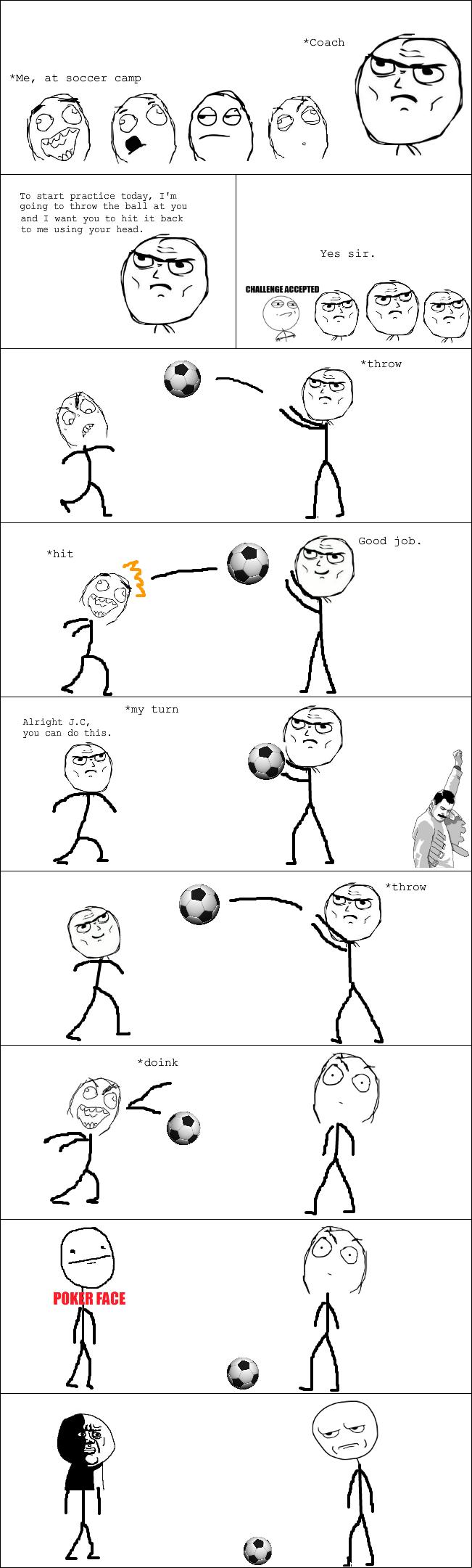 Head-butt soccer fail