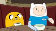 S9e2 Jake and Finn eating 3