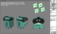 S8E10 Model Sheet Bmo - With Virtual Reality Goggles