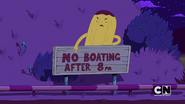 S5e43 no boating sign