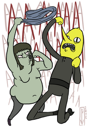Muscle man lemongrab