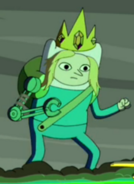 S5e2 Farmworld Finn wearing crown
