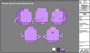 Modelsheet Lumpy Space Princess Special Color Mc