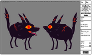 Modelsheet Fire Wolf Pup - Special Color