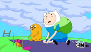 S3e26 Finn and Jake rain
