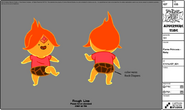 Modelsheet flameprincess baby