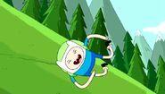 S4e4 Finn rolling down hill