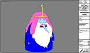 Modelsheet iceking dressed asprincessbubblegum