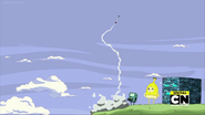 S10e13 BMO launches rocket with Banana Man and ALLMO