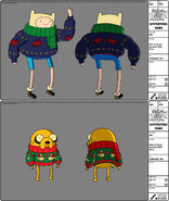 Modelsheet finn jake inxmassweater withrims