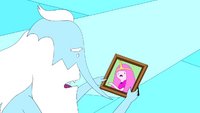 S5e22 Ice King looking at picture of PB