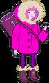 Princess Bubblegum in snow parka carrying bag.png