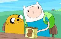 S4e7 Finn Jack n eating peanuts