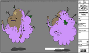 Modelsheet Lumpy Space Princess - Monster Form