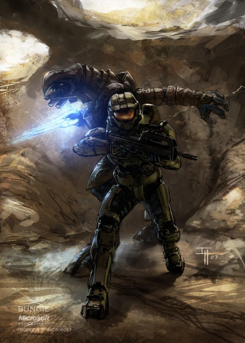 Halo 3 Arbiter And Master Chief