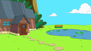 S7e28 lake next to treehouse