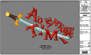 Modelsheet adventuretime logo - destroyed