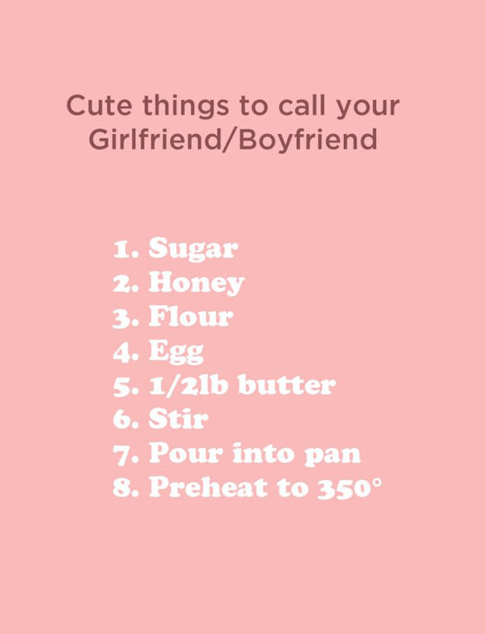 Cute things to call a girl you like