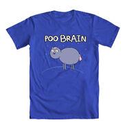 Poo Brain Horse Royal Blue Shirt