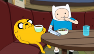 S10e2 Finn and Jake eating