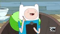 S5e19 Finn laughing in tub