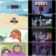 Adventure Time Islands Mini-Series The Prisoner References Collage