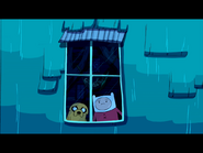Finn and Jake looking out the window